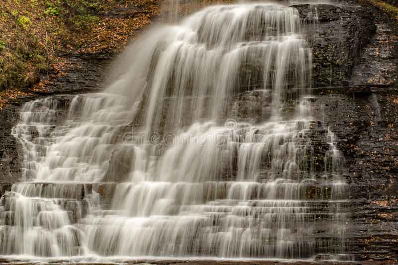 As quedas das cascatas, Giles County, Virgínia, EUA fotografia de stock