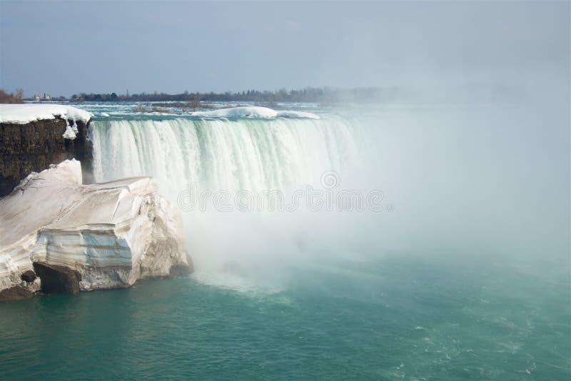 As quedas em ferradura famosas de Niagara Falls do lado canadense fotografia de stock royalty free