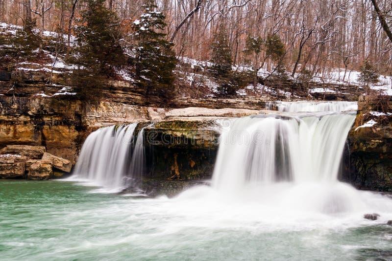 Quedas superiores da catarata de Indiana imagens de stock royalty free