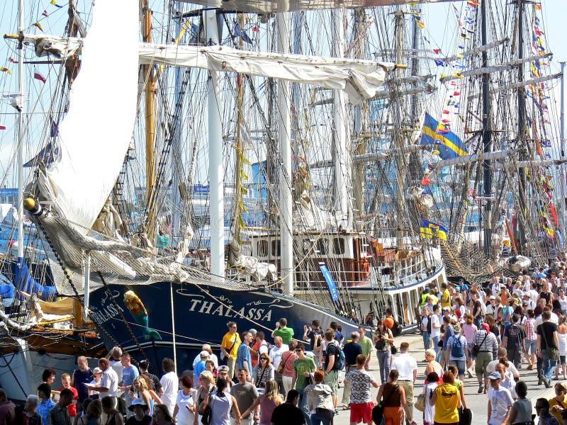 As raças 2009 dos navios altos foto de stock royalty free