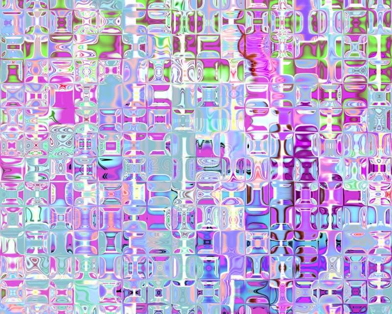 As reflexões de cristal da arte genética iluminam - a magenta azul ilustração royalty free