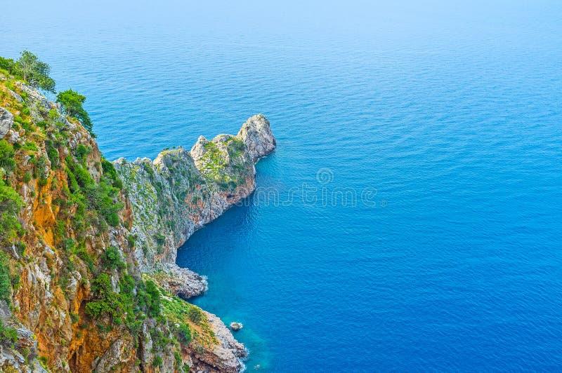 As rochas da península de Alanya fotos de stock royalty free