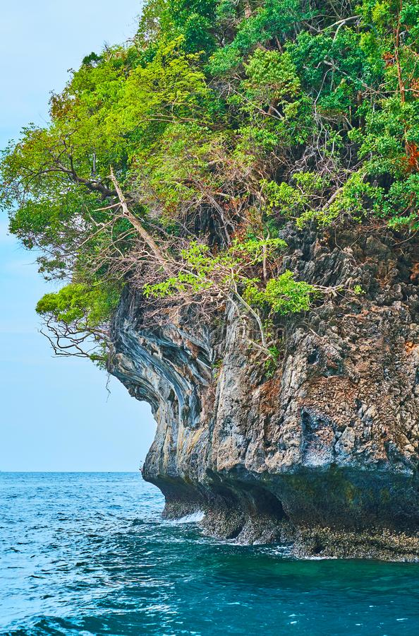 As rochas de Phi Phi Leh Island, Krabi, Tailândia foto de stock royalty free