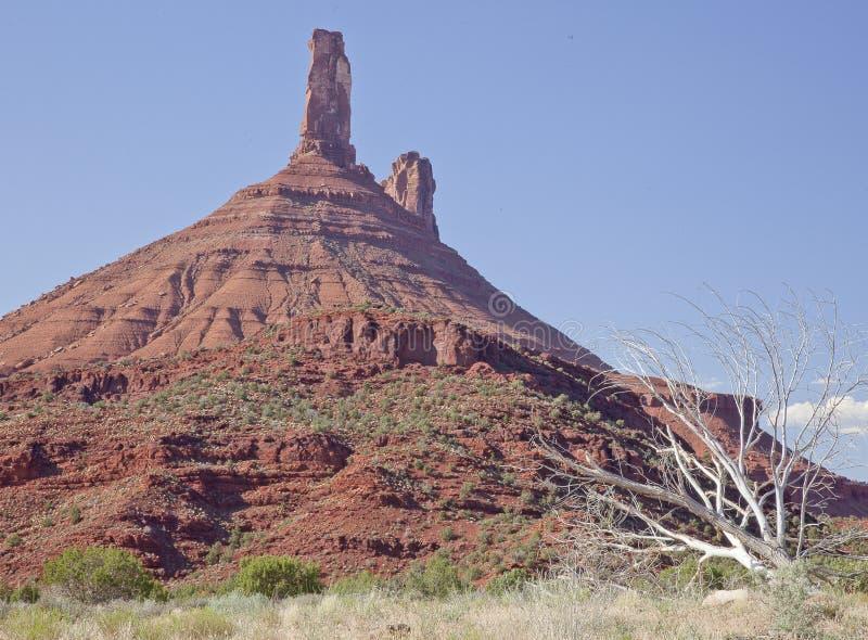 As rochas do padre e da freira aproximam Moab, Utá foto de stock royalty free