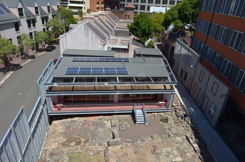 As rochas grandes de Dig Archaeology Education Centre The em Sydney Aus fotos de stock royalty free