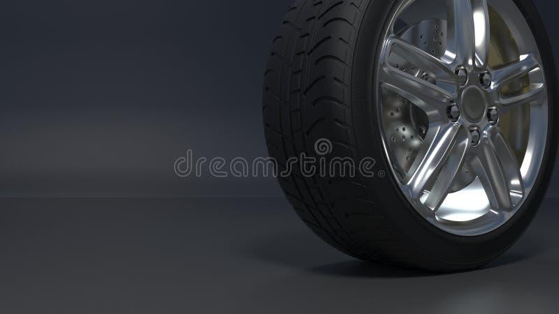 As rodas da liga ligam as rodas ilustração stock