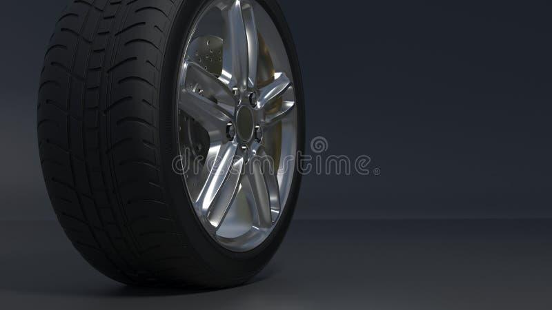 As rodas da liga ligam as rodas ilustração do vetor