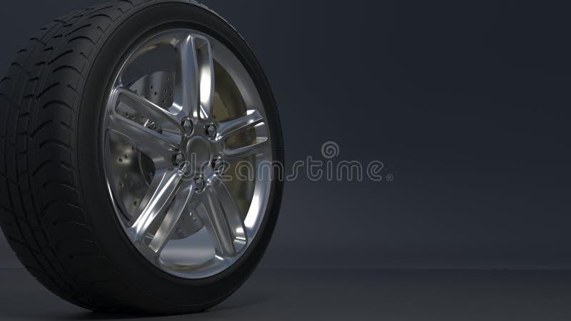 As rodas da liga ligam as rodas ilustração royalty free