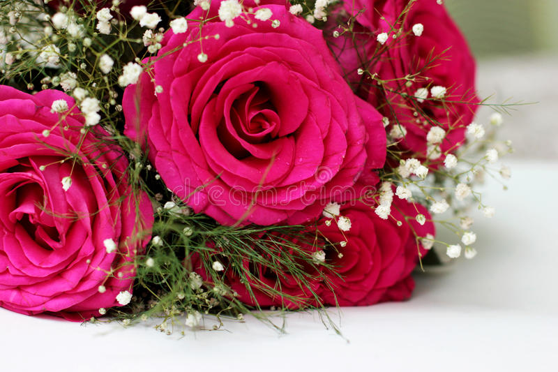 As rosas bonitas formaram em um ramalhete bonito imagem de stock royalty free