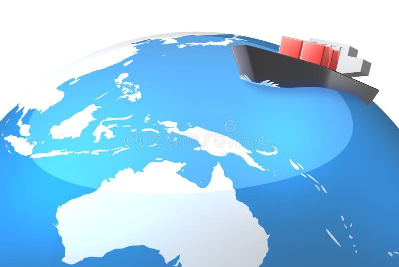 As rotas de Ásia ilustração royalty free
