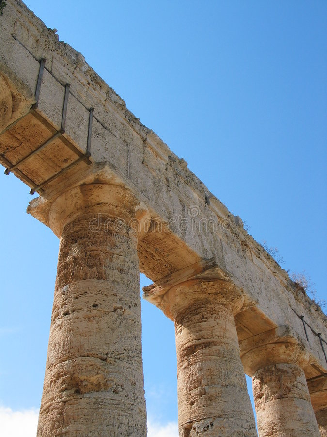 As ruínas aproximam Trapani Sicília foto de stock