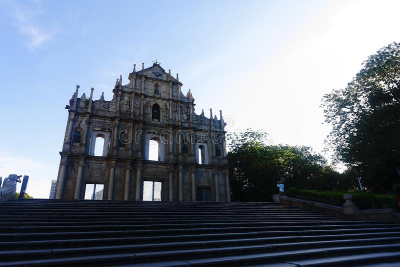 As ruínas da catedral de St Paul fotografia de stock