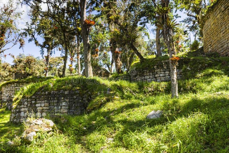 As ruínas da fortaleza de Kuelap imagem de stock royalty free