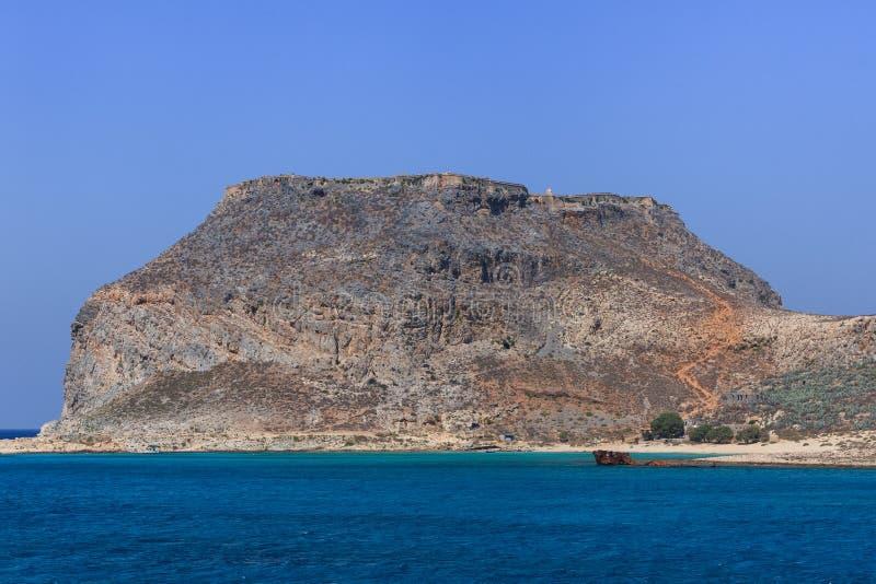 As ruínas da fortaleza Venetian antiga Crete, Greece fotografia de stock royalty free