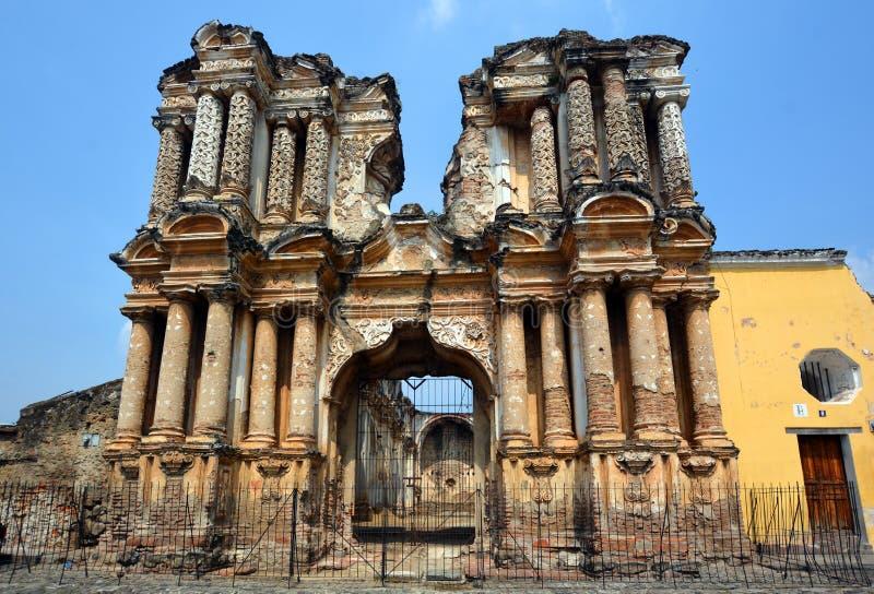 As ruínas da igreja do EL Carmen imagens de stock royalty free