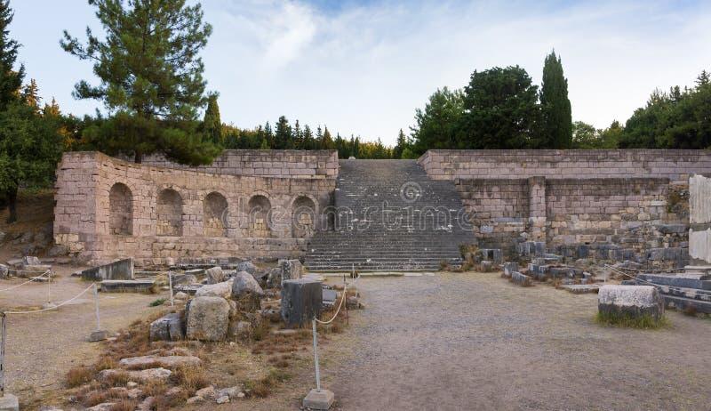 As ruínas de Asclipeion na ilha de Kos, Dodecanese, Grécia, um templo dedicaram a Asclepius, deus da medicina foto de stock royalty free