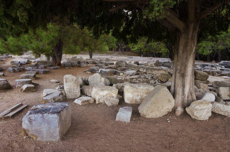 As ruínas de Asclipeion na ilha de Kos, Dodecanese, Grécia, um templo dedicaram a Asclepius, deus da medicina imagem de stock royalty free