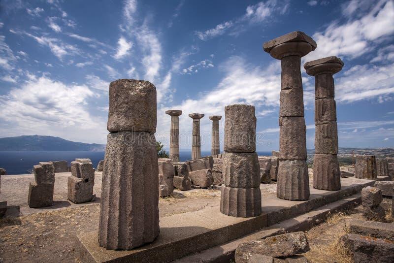 As ruínas de Assos fotografia de stock royalty free