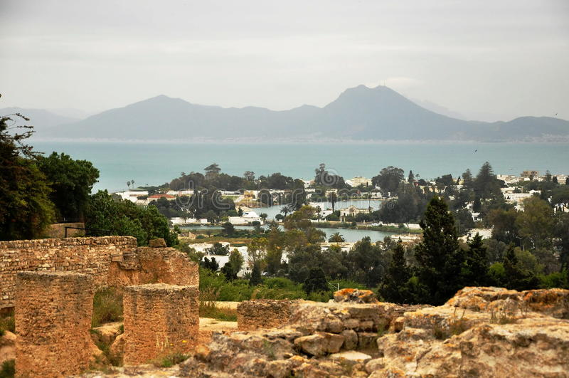 as ruínas de Carthage foto de stock royalty free