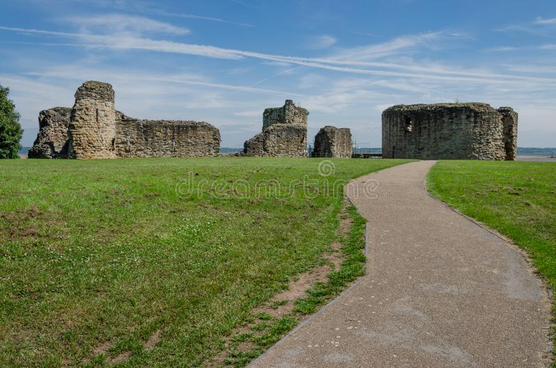 As ruínas de Flint Castle fotos de stock