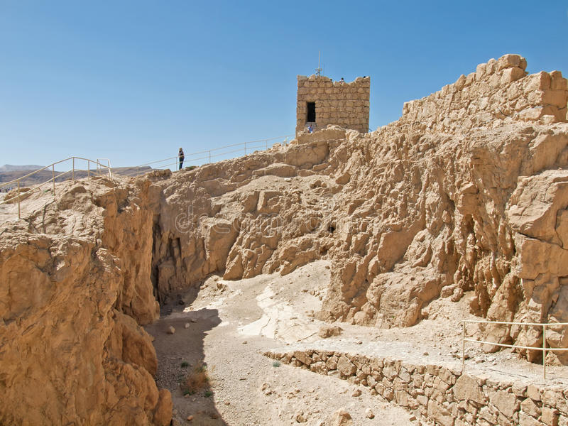 As ruínas de Herods fortificam na fortaleza Masada, Israel fotografia de stock royalty free