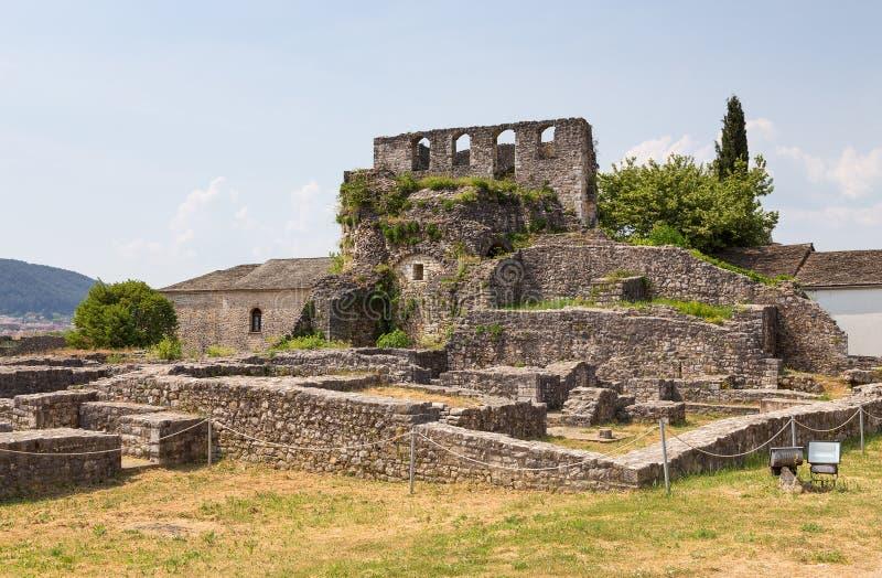 As ruínas de Ioannina fortificam, Epirus, Grécia imagem de stock