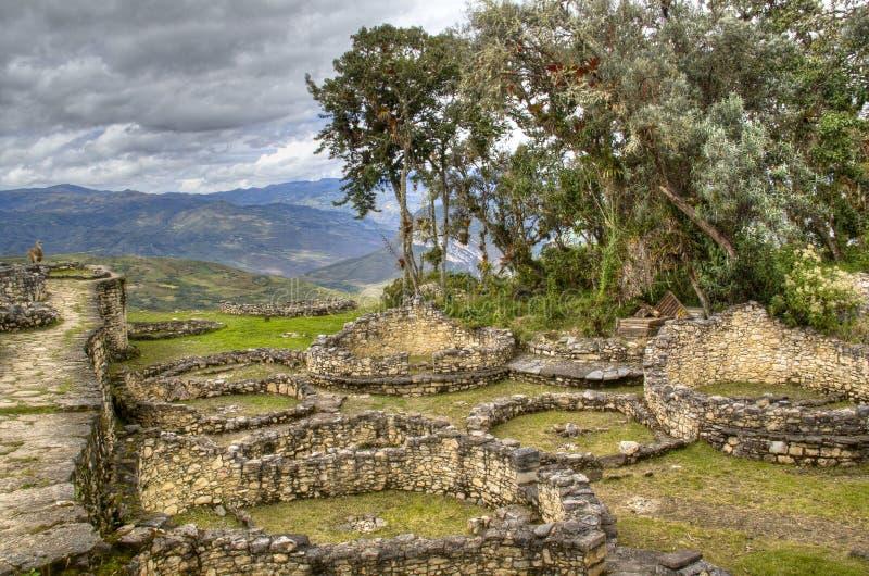As ruínas de Kuelap imagens de stock