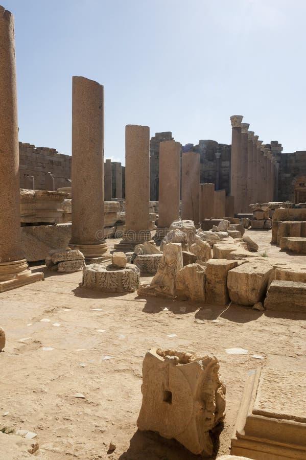 As ruínas de magnum dos leptis fotografia de stock royalty free
