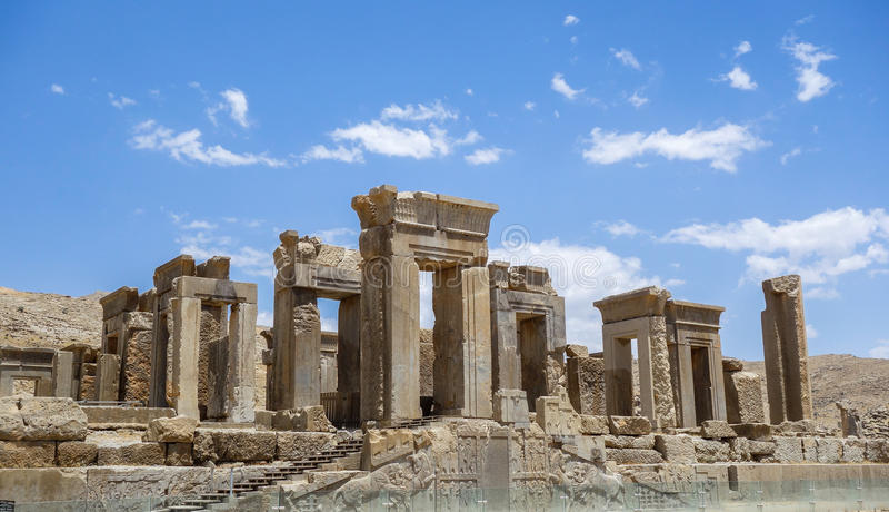 As ruínas de Persepolis em Irã imagens de stock