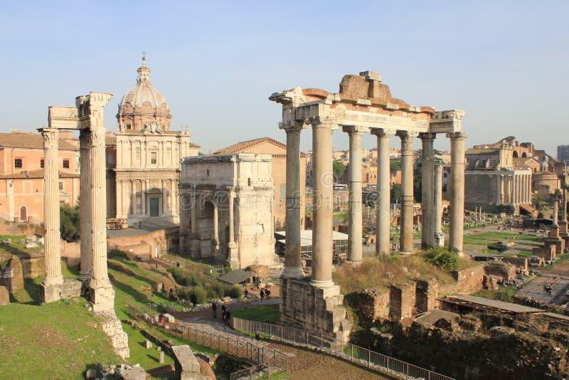 As ruínas de Roma fotografia de stock