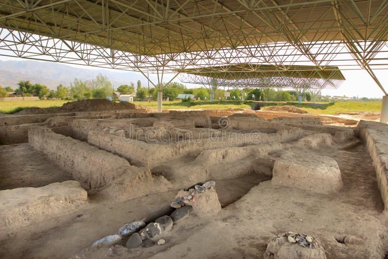 As ruínas de Sarazm, Tajiquistão foto de stock