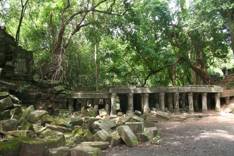 As ruínas de um templo antigo, Camboja imagem de stock royalty free
