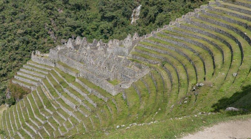 As ruínas de Winaywayna fotos de stock royalty free