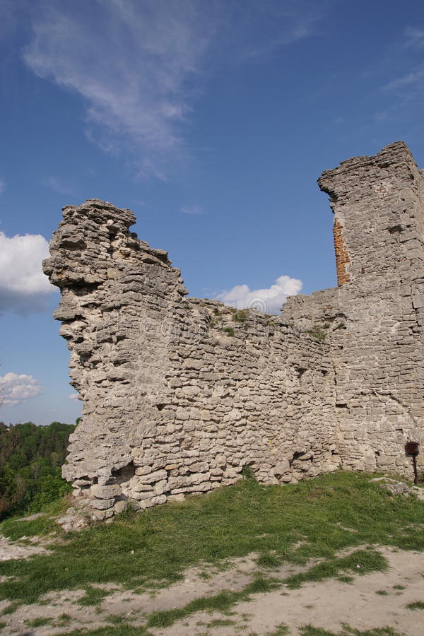 As ruínas do castelo antigo em Ucrânia fotos de stock