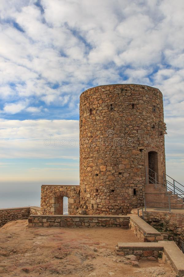 As ruínas do castelo de Burriac imagens de stock royalty free