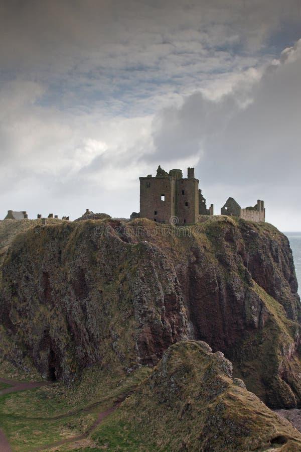 As ruínas do castelo de Dunnottar, Scotland foto de stock royalty free