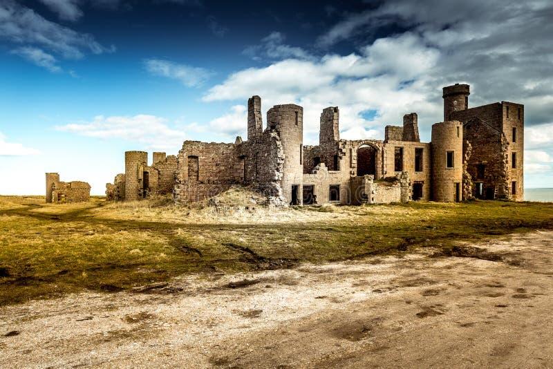 As ruínas do castelo de Slains fotos de stock