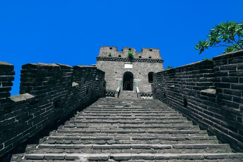 As ruínas do Grande Muralha de China na seção de Mutianyu no nordeste do Pequim central, China foto de stock
