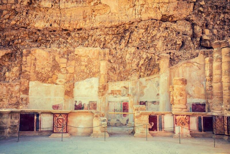 As ruínas do palácio do rei Herod fotos de stock royalty free