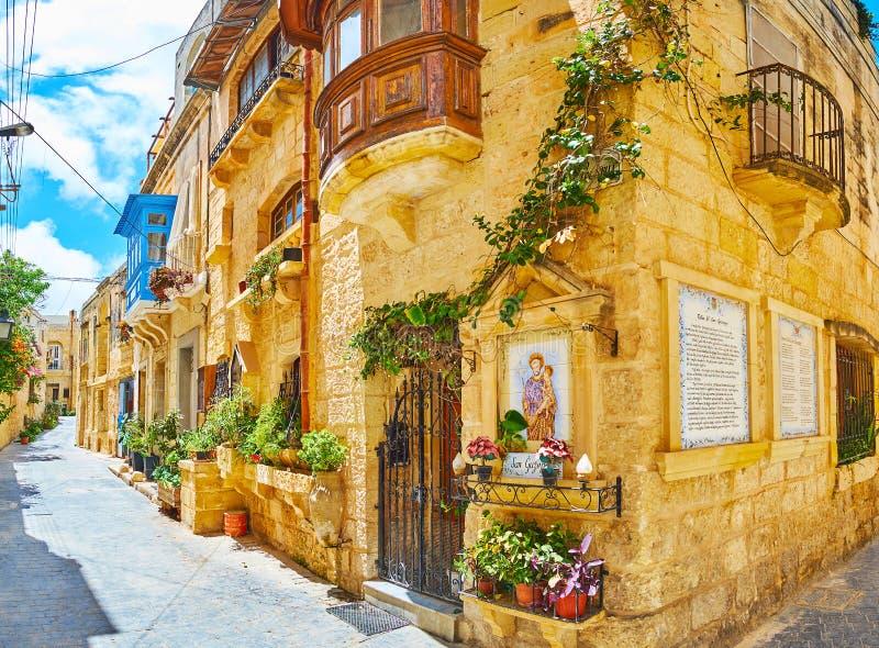 As ruas acolhedores de Rabat, Malta imagem de stock royalty free