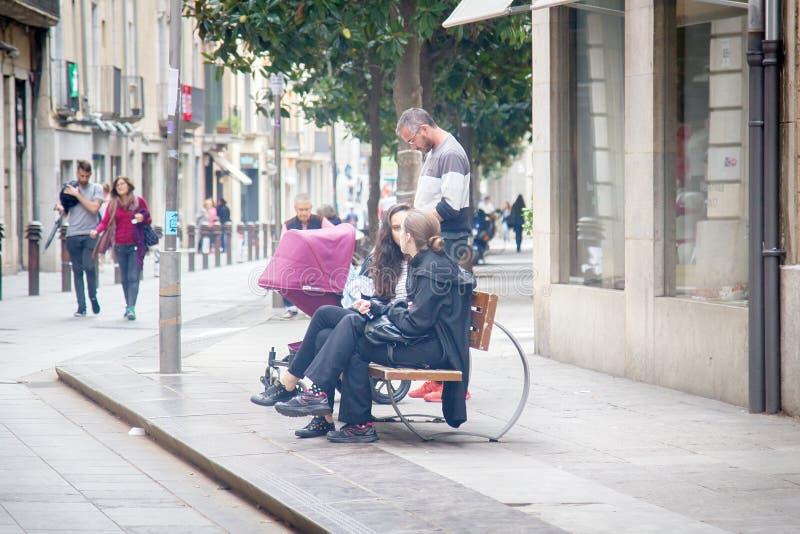as ruas da antiga cidade de Girona imagem de stock royalty free
