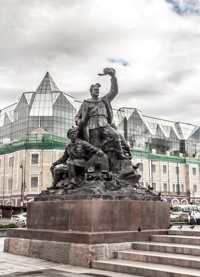 As ruas da cidade de Vladivostok foto de stock royalty free
