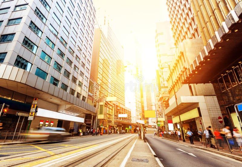 As ruas de Hong Kong imagens de stock