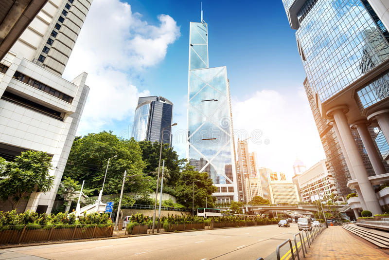 As ruas de Hong Kong imagem de stock royalty free