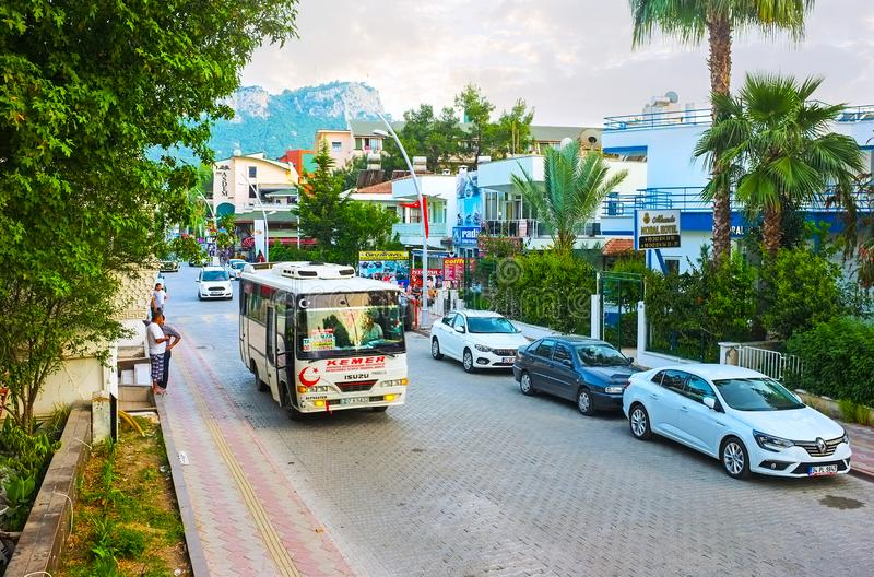 As ruas de Kemer, Turquia fotos de stock