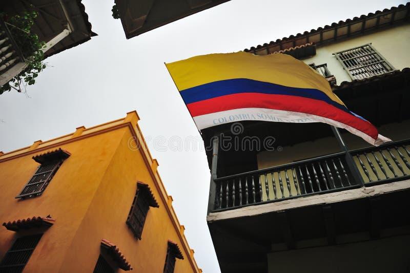 As ruas em Cartagena de Índia fotos de stock royalty free