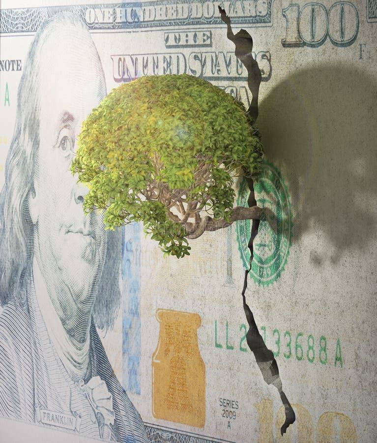 As rupturas da árvore livram ilustração royalty free