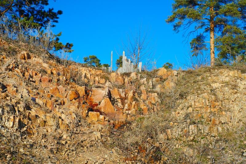 As saliências da rocha do granito imagens de stock royalty free