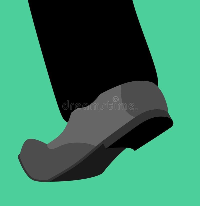 As sapatas do pé vão isolado molde do pé do piso ilustração royalty free