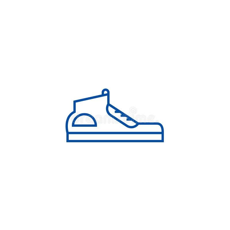 As sapatilhas alinham o conceito do ícone Símbolo liso do vetor das sapatilhas, sinal, ilustração do esboço ilustração do vetor